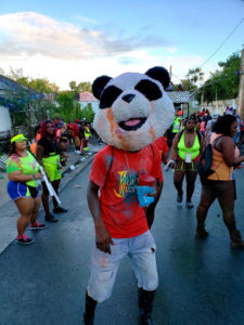 Because why shouldn't a j'ouvert celebrant dress as a panda? (Source photo by Melody Rames)