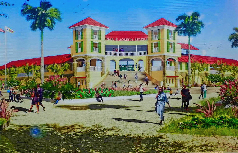 An artist drawing of the proposed Paul E. Joseph Stadium. (Submitted drawing)