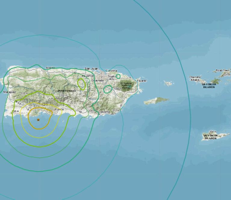 Magnitude 6.5 Quake  Kills One in Puerto Rico *USVI Update*