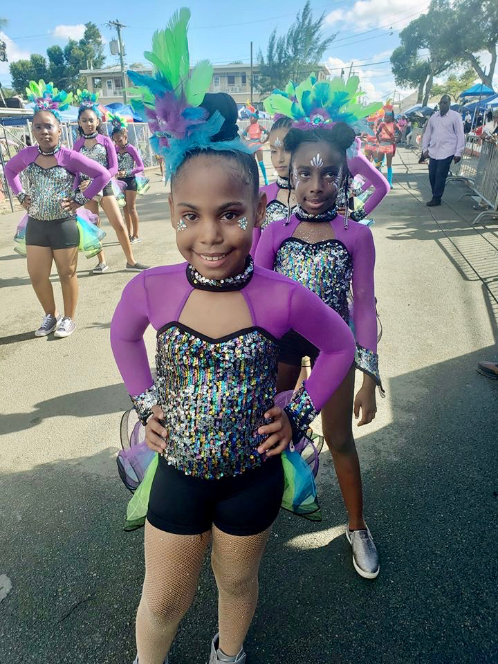 A young dance troupe is ready to parade. (Source photo by Melody Rames)