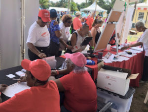 Agrifest 2019 participants sign up for activities at the AARP booth (Submitted photo)