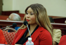 Africah Harrigan: Granddaughter to Beulah Harrigan, Africah Harrigan, provides testimony during the a hearing of the Committee on Culture, Historic Preservation, and Aging.q