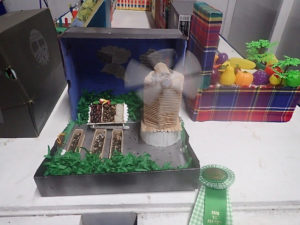 """A scarecrow made by Eulalie Rivera students demonstrates """"You are what you eat."""" (Source photo by Susan Ellis)"""