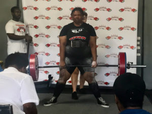 Alexis Walker attempts 215 kg during the deadlift portion of the competition. (Source photo by Kyle Murphy)