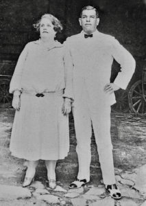 The Herman and Emily Creque pose for a photo that now appears in the book. Both were born in 1884 in St. Thomas.