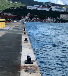New cleats line the waterfront in Charlotte Amalie. (VIPA photo)