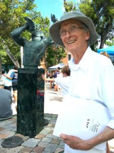 Frank Langley, founder of the St. John Arts Festival. (Source photo by Judi Shimel)