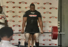 Borris Terry lifts 337 kg in the deadlift. (Source photo by Kyle Murphy)