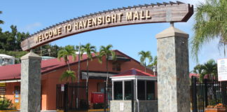 The Havensight Mall entrance. (Source photo by Bethaney Lee)