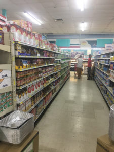 A partially full aisle at Pueblo in Golden Rock shows some gaps. (Kelsey Nowakowski photo)