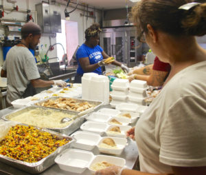In this October 2017 photo, My Brothers Workshop prepares meals for people in the month after Hurricanes Irma and Maria devastated the islands. Source file photo by Kelsey Nowakowski)