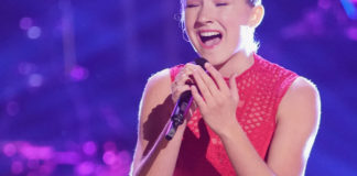 """St. John's Allegra Miles sings Sia's """"Chandalier"""" on the Knockout Round"""" of """"The Voice."""" Photo by Tyler Golden, NBC)"""