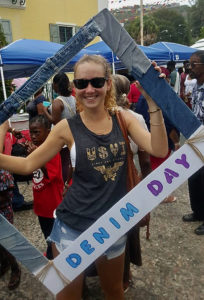 Brittanie Silbilly at the St. Thomas Carnival Denim Day celebration in 2017. Photo by Vernon Araujo)