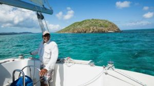 Westerman, who has operated Llewellyn's Charters since 1979, takes passenger excursions from the St. Croix Yacht Club to Buck Island, pictured here. (Photo from Llewellyn's Charters website)