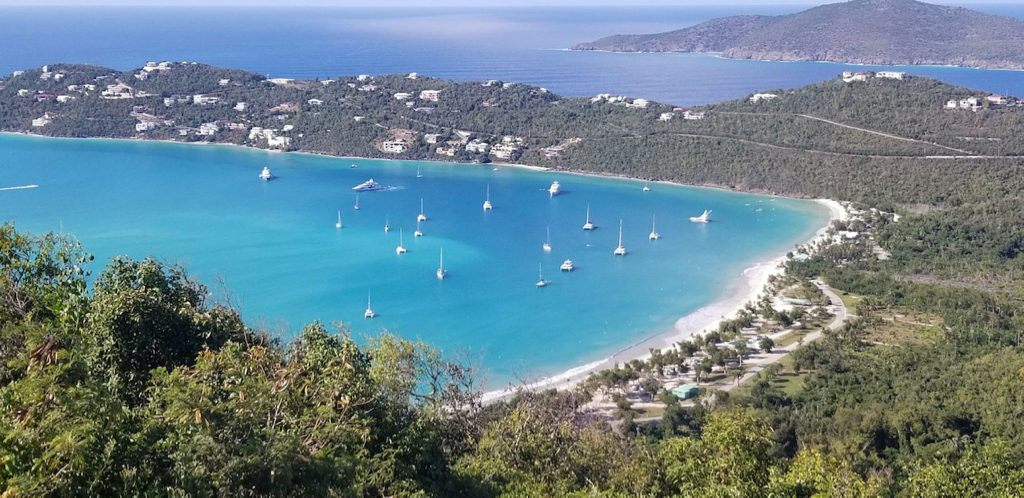 Magens Bay as seen Saturday from Drakes seat. (W. Bostwick photo)