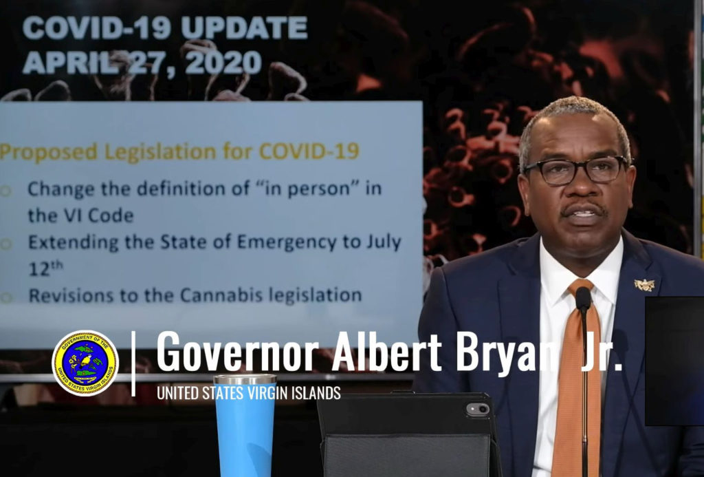 Gov. Albert Bryan, Jr. announces a new order for a phased reopening will be announced.