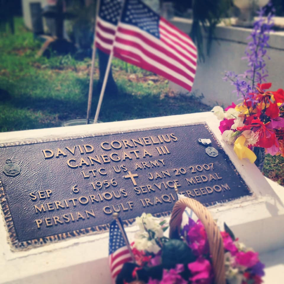 The tombstone of Lt. Col. David Cornelius Canegata III. (Phoot submitted by Nicole Canegata)