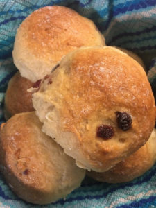 Raisin buns made by Samuel for her weekly baking group. (Photo submitted by Kattian Samuel)
