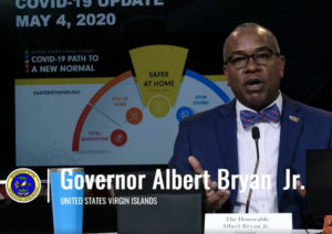 During his coronavisus update Monday, Gov. Albert Bryan Jr. says federal economic stimulus checks could be released late next week.