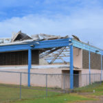 Hurricane damage from the 2017 storms remains at Arthur A. Richards. (Source file photo)
