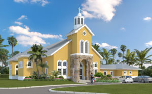 Architect's rendering of the St. Theresa chapel to be built on the King HNill Road.