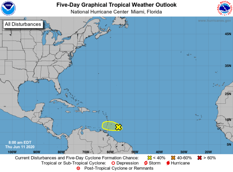 Tropical Wave Could Bring Rain as it Passes Through Windward Islands