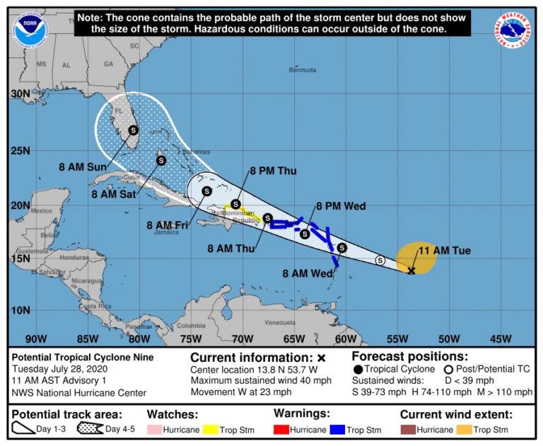 Tropical Storm Warning for USVI