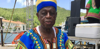 File photo shows Gilbert Sprauve in costume for the annual play held to celebrate Emancipation Day in 2018. (Source file photo)