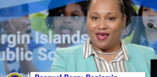 Education Commissioner Racquel Berry-Benjamin heralds the release of the Education Department's new master plan for facilities during a press conference Monday. (Screen capture)