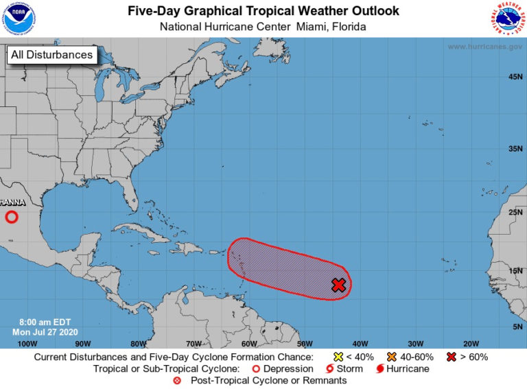 Storm's Early Predicted Track Shows it Spinning Towards the V.I.