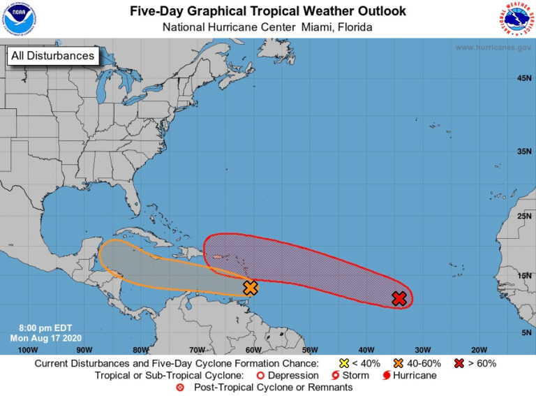 Low-Pressure System May Threaten V.I. by the End of the Week