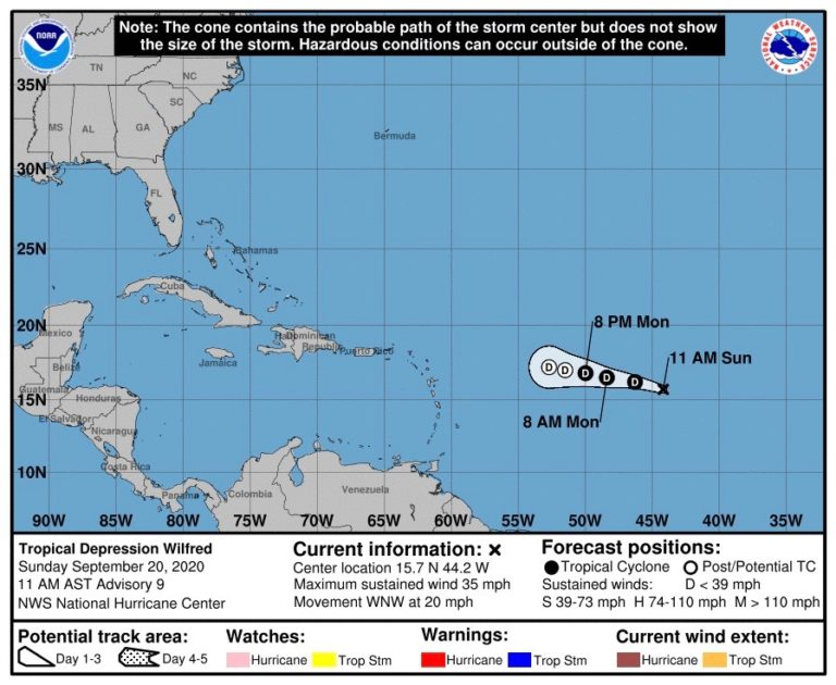 Wilfred is Wilting, NHC Reports