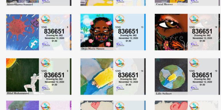 V.I. Youths' Artwork Adorns Latest V.I. Lottery Tickets