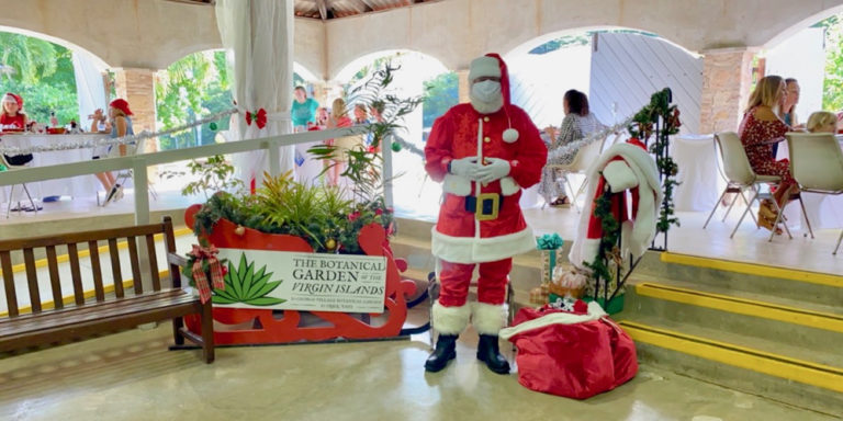Families Join Santa for Breakfast at Botanical Garden