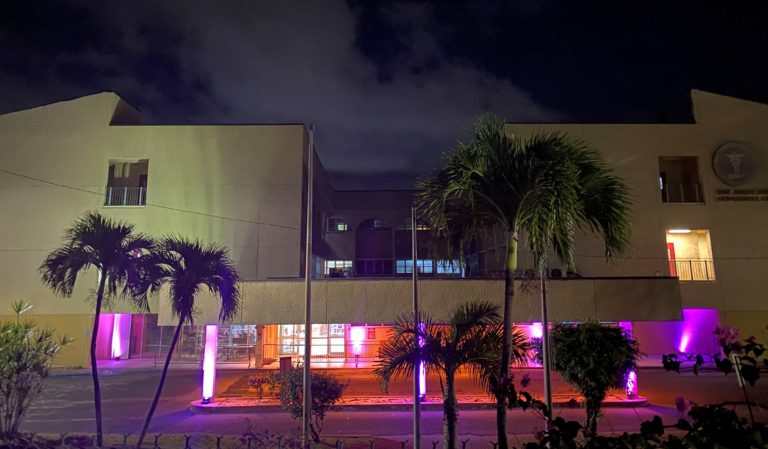 JFL Illuminated in Honor of National Day of Mourning for COVID-19 Victims