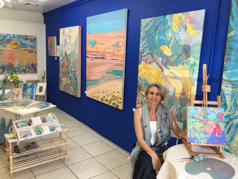 Artist Katia Moltisanti Opens Gallery of Her Work in Cruz Bay