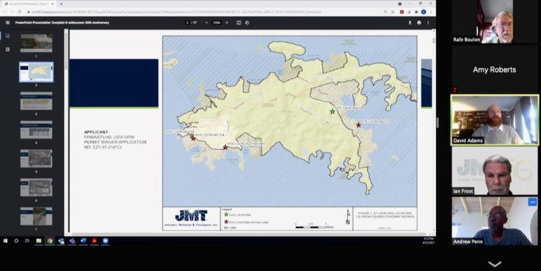 St. John CZM OKs Plans for Road Repair