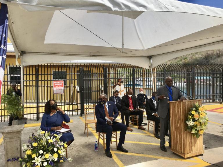 Gov. Bryan Attends Ceremony For Rebuilt Customs Facility in Cruz Bay
