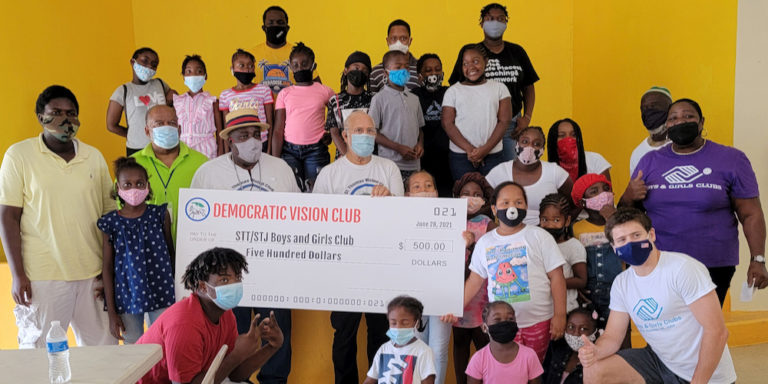 Democrats Bring Money, Books and Attention to Boys and Girls Club
