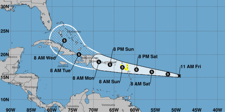 NHC Expects System to Be Tropical Storm When It Reaches V.I. this Weekend
