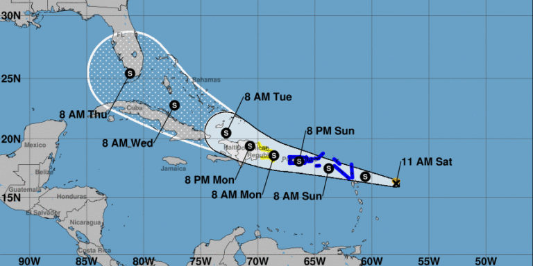 TS Grace Expected to Pass Six Miles South of St. Croix on Forecast Track
