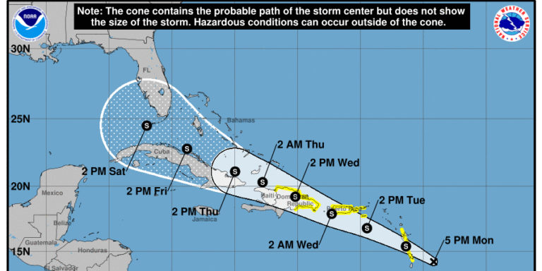 Tropical Storm Watch in Effect for USVI, Puerto Rico
