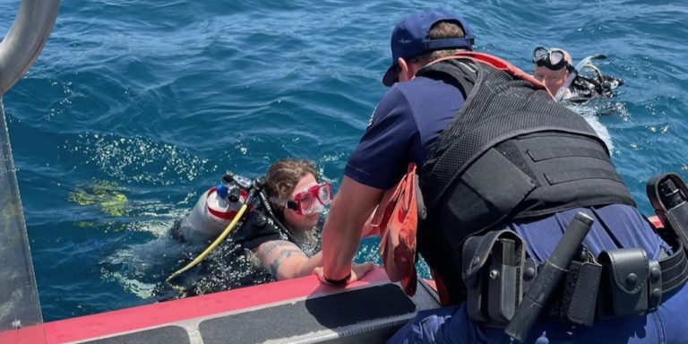 Coast Guard Rescues Two Divers off Coki Point