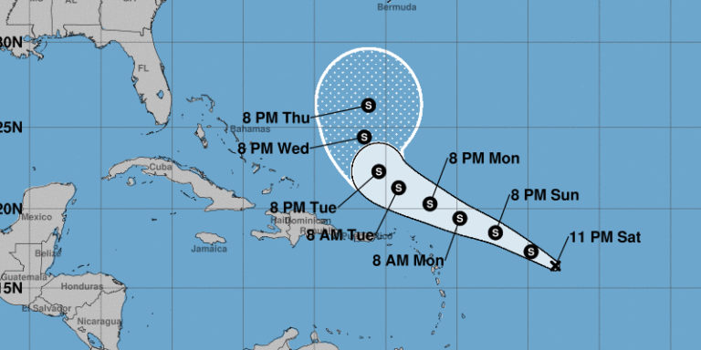 System Becomes Tropical Depression 16, Likely to Pass Just North of V.I.