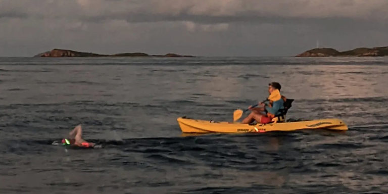 Didier Becomes First Woman to Swim Non-Stop Around St. John