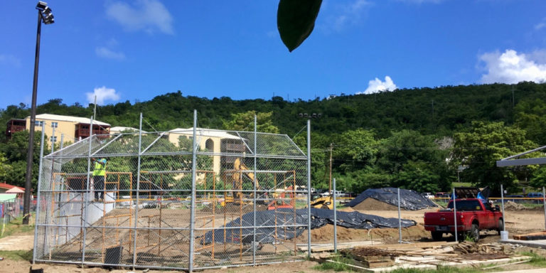 V.I. National Park Ball Field in Cruz Bay Set to Open by End of October